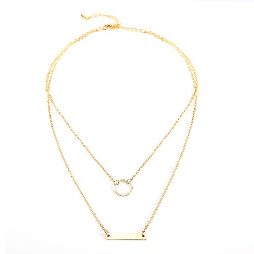 Zealmer Daycindy Multi-Layer Pendant Chain Long Layered Necklace Jewelry for Women