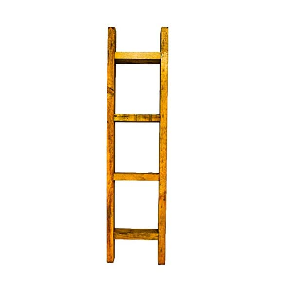 """24"""" Decorative Wood Ladder for Rustic, Traditional, or Farmhouse Decor - Perfect for Empty Corners - No Assembly Required"""