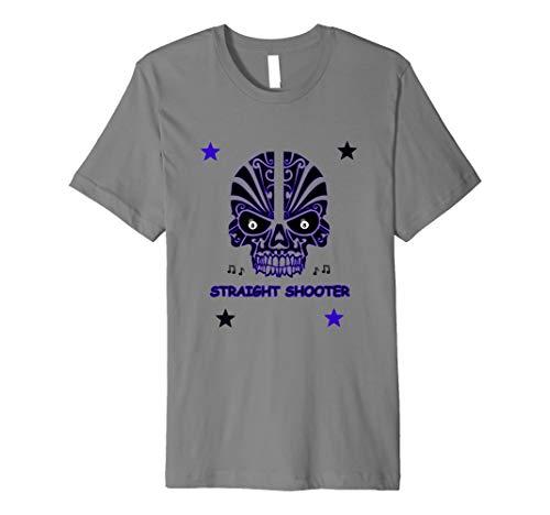 (Straight Shooter Skull & Stars 8 Ball Billiards T-Shirt)