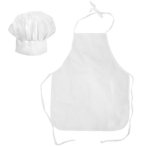 Tigerdoe Chef Hat and Apron - 2 Pc Set - Chef Costume - Bakers Costume - BBQ Party - Dress Up]()
