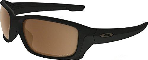 Tungsten Iridium Sunglasses (Oakley Men's Straightlink Polarized Iridium Rectangular Sunglasses, Matte Black w/Prizm Tungsten Polarized, 61 mm)