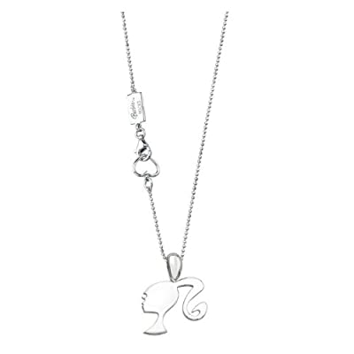 Barbie Rocks Classic Sterling Silver Silhouette Necklace by Barbie Rocks