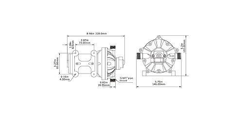 SeaFlo High Pressure Marine Water Pump 12 V DC 60 PSI 5.0 GPM on demand by Sea Fresh Marine (Image #6)