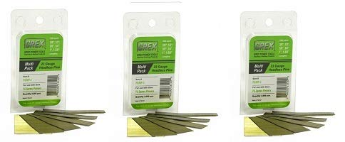 GREX P6/MP-3 23 Gauge Multi-Pack Headless Pins (3,000 per box) (3-(Pack))