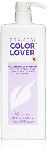 Framesi Color Lover Volume Boost Shampoo - 33.8 Ounce, Color Safe, Weightless, Volume Shampoo With No Sulfate, Vegan, Gluten Free, Cruelty Free ()