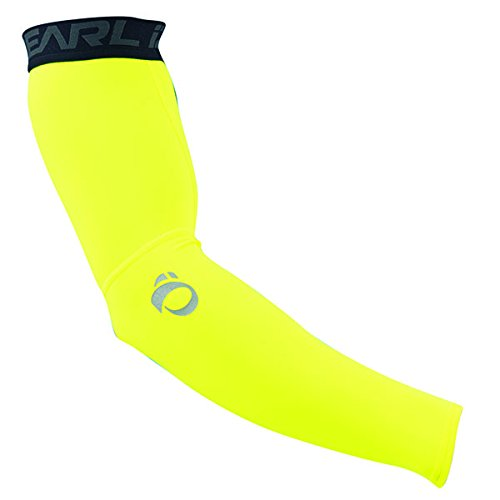 Bicycle Arm Warmers (Fall 2015 Ride Elite Thermal Arm Warmer, Large, Screaming Yellow)