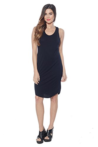 A+D Womens Midi Loose Fitted Tank Top Dress with Scoop ...