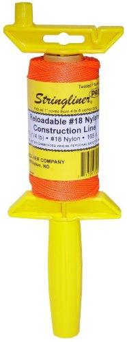 Stringliner 25106 ¼ Lb Twisted Orange Nylon Pro ReelReloadable Construction Ln by TV Non-Branded Items