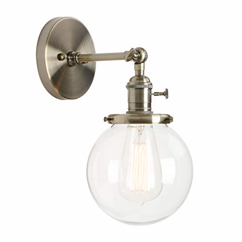 (Permo Vintage Industrial Wall Sconce Lighting Fixture with Mini 5.9
