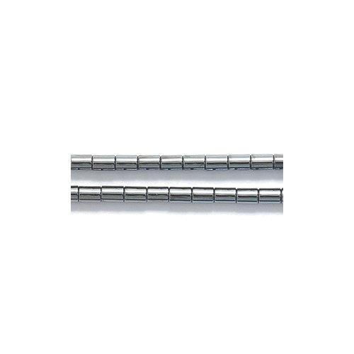 Shipwreck Beads Hematite Tube Bead, 2 by 3-mm, 130-Piece Per Strand Average, 9-Strand/Pack (Tube Hematite Magnetic Bead)