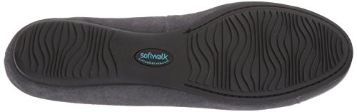 SoftWalk Women's Napa Mj Mary Jane Flat Dark Grey/Pewter clearance online BmimMt