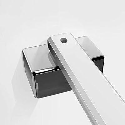 45 cm aleación de zinc sin marco puerta fijo mampara de ducha barra de apoyo brazo: Amazon.es: Bricolaje y herramientas