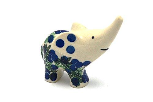 Polish Pottery Ring Holder - Elephant - Huckleberry