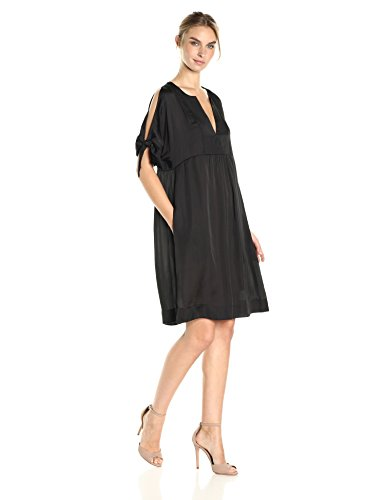 BCBGMax Azria Women's Chara Cold Shoulder Tie-Sleeve Woven Casual Dress supplier