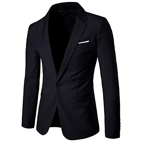 Affari Di Slim Giacca Nero Vestito One Cappotto Missmaom Button Casual Elegante Fit Blazers Uomo 6Rdqwfw08