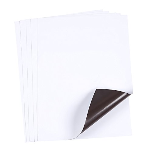 Magnetic Dry Erase Sheet - 5-Pack Dry Erase Boards for Fridge, and Metal Surfaces, Kitchen Whiteboard, White, Medium, 9 x 12 inches