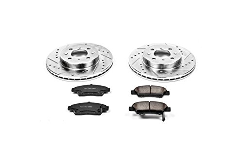 Power Stop K5382 Front Brake Kit with Drilled/Slotted Brake Rotors and Z23 Evolution Ceramic Brake Pads