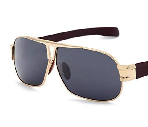 protection pour en l'extérieur FlowerKui lunettes soleil UV400 Cadre lunettes de de conduisant Lunettes soleil unisexe Golden polarisées métal de arTPTq5