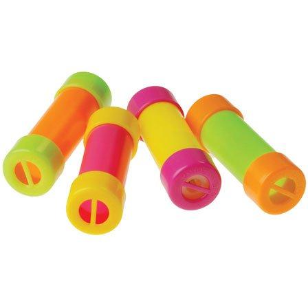 Assorted Color Mini Noisemaker Groan Tubes (6)