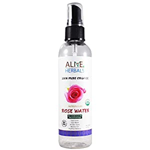 Rose Water 4 Oz Sprayer Bottle 100% Organic Natural Moroccan Rosewater (Chemical Free) Best Complete Facial & Skin Toner, Hair Oil, Moisturizer and Cleanser