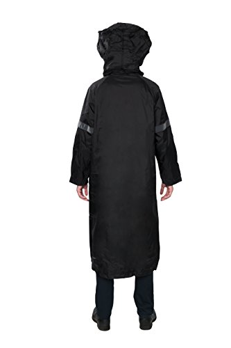 RAICOA Men's Nylon Long Raincoat with Hood for Shtriemel and Hat - With Travel Pouch (Large) (Long Raincoats For Men With Hood compare prices)