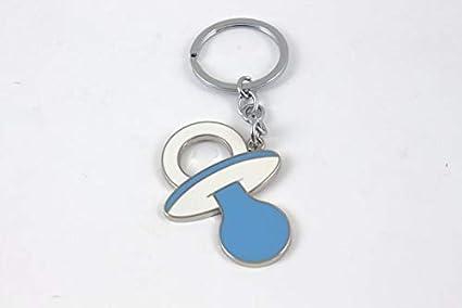 12 unidades Llavero de metal Chupete Azul nacimiento niño ...
