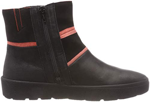 Sz 71 Think Ankle Black Women's Boots Drunta Rosso 383095 0F1Z0q