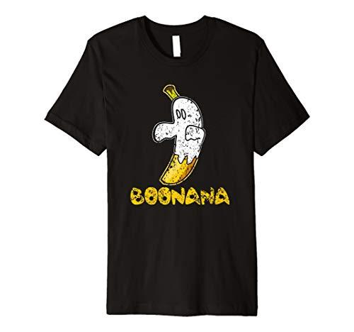 Funny Cute Distressed Ghost Fruit Banana Boonana Tee Shirt for $<!--$18.99-->