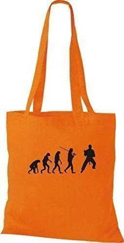 Shirtinstyle - Bolso de asas de algodón para hombre naranja - naranja