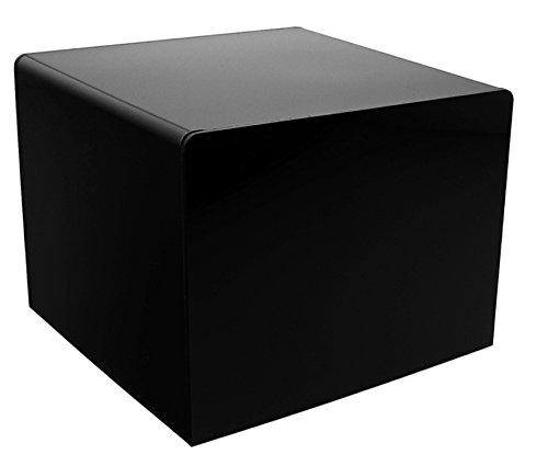 """16"""" x 16"""" x 6"""" Jewelry Cube Riser Display Box / 5 Sided Black"""