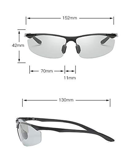 Protección Color XIYANG Sol Gafas Black Ocular para de Multifuncional Fashion Outdoor Cambio Gray antideslumbrante de Sports UV polarizado Hombres XwrXESvqn