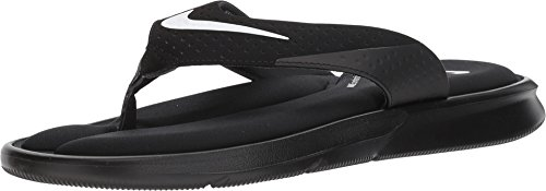 Nike Men's Ultra Comfort Thong Flip Flops (13) Black/White