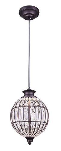 Canarm Tilly LED Pendant Light in Oil Rubbed Bronze with Crystals