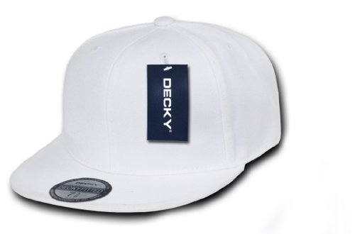DECKY Retro Fitted Cap, White, 7 - Hat White Fit Flex