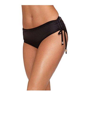 Catalina Women's Swim High Waist Brief Bottom Swimwear - More Coverage, Adjustable Ties (L (12-14))
