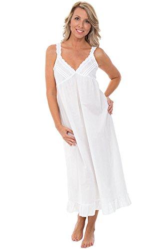 e5b28d8afe Galleon - Alexander Del Rossa Womens 100% Cotton Lawn Nightgown ...