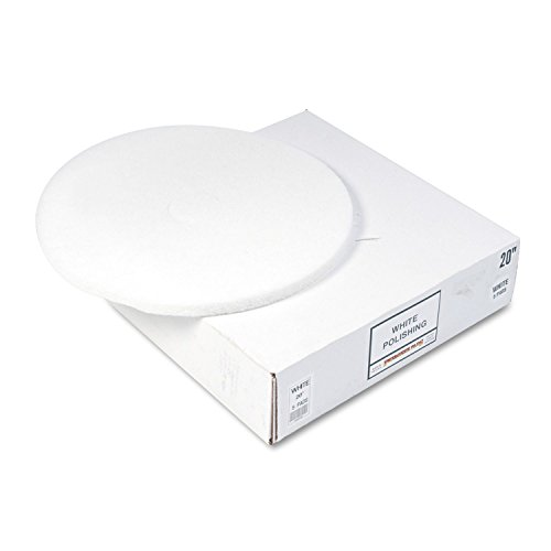 Standard 20in Floor Polish Pad - White