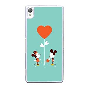 Sony Xperia Z3 Cell Phone Case White Minnie Mouse AS7YD3584276