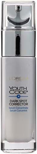Dark Spot Corrector Face Serum for Even Skin Tone by L'Oreal Paris, Youth Code Anti-Aging Serum, Non-greasy, 1.0 oz