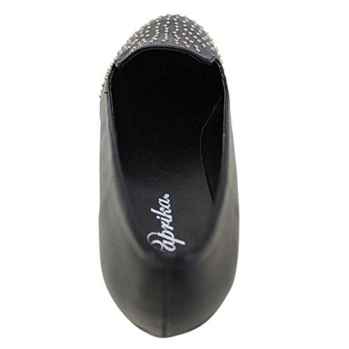 Luxury Divas Womens Ballet Flats With Studded Toe Black 0CBlrwQ