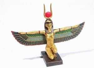 Width 25cm Mixed lotusandlime Winged Isis resin