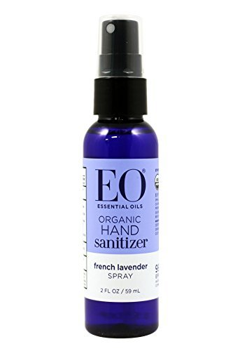 Natural Hand Sanitizer Spray - EO Hand Sanitizer Spray- Organic Lavender, 2-Ounce (Pack of 2)