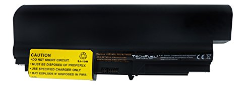 T4645, 42T4677 Battery for Lenovo ThinkPad T400 2765, T400 7417, T61 7661, T61 7663, T61 7664 Laptops - Extended Capacity 9-cell, 84Wh Li-ion Battery ()