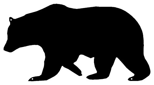 - Garage Art Signs Bear Laser Cut Out Wall Décor Silhouette Metal Sign 7.5x14