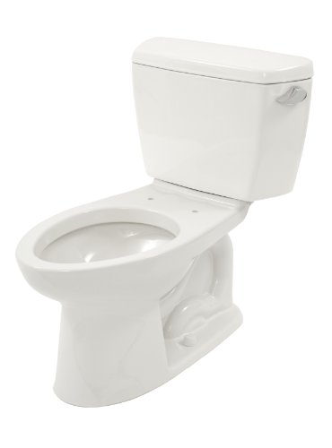 (TOTO CST744SR#01 Drake 2-Piece Toilet with Elongated Bowl and Right Hand Trip Lever, Cotton White)