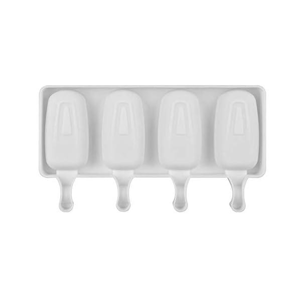 Wisilan - Stampi in gel di silice per gelato con motivo spray, per decorare vaschette del ghiaccio 4.8x9cm White-l 7 spesavip