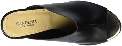 GARDENIA COPENHAGEN Women's Heel Open Back Slippers Black (Vaquetta Black) qk7v0