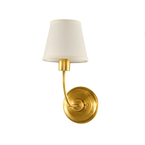 Retro Luxury Brass Wall Lamp Bedroom Bedside Lamp Mirror Front Lamp Wall Decoration Home Decoration Wall Lamp by Crystal (Image #2)