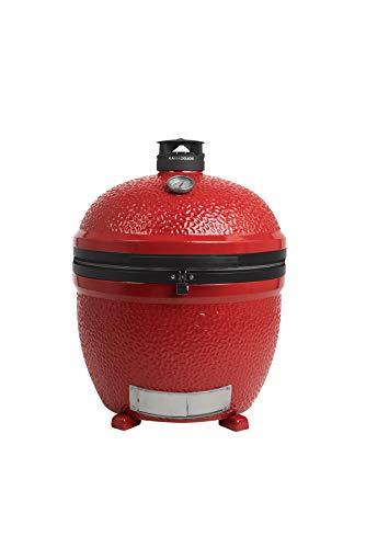 KamadoJoe BJ24NRHC Big Joe II Stand-Alone kamado Charcoal Grill, Blaze Red