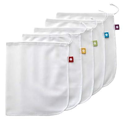 Flip & Tumble Reusable Produce Bag for Fruits and Veggies, White, One Size (Model:PBNA001) …